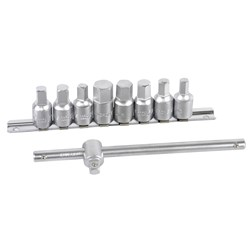 "Drain Plug Key Set 9 Piece 3/8"" Square Drive"
