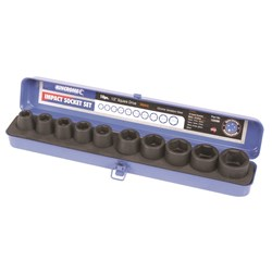"Air Impact Socket Set 10 Piece 1/2"" Square Drive"