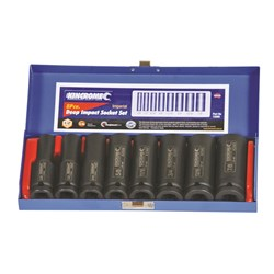 "Deep Impact Socket Set 8 Piece 1/2"" Square Drive"