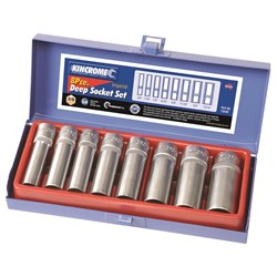 "Deep Socket Set 8 Piece 3/8"" Square Drive"