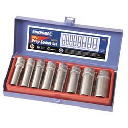 "Deep Socket Set 8 Piece 3/8"" Drive"