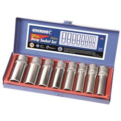 "Deep Socket Set 8 Piece 1/2"" Square Drive"