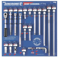 "Socket Accessories Merchandiser 18 Piece 1/2"" Drive"