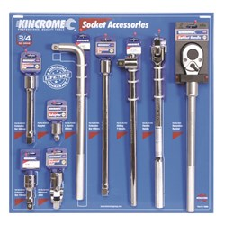 "Socket Accessories Merchandiser 9 Piece 3/4"" Drive"