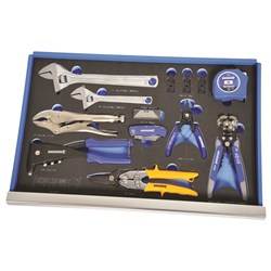 EVA Tray Pliers, Wrenches & Knife Set 13 Piece