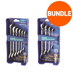 Double Ring Gear Spanner Set 6 Piece Metric & 4 Piece Imperial