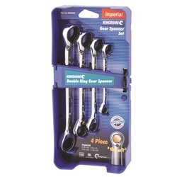 Double Ring Gear Spanner Set 4 Piece