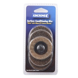 "'Roloc' Style Sanding Discs 2"" (50mm) 36 Grit (Coarse) 5 Pack"