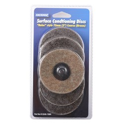 "'Roloc' Style Sanding Discs 3"" (75mm) 36 Grit (Coarse) 5 Pack"