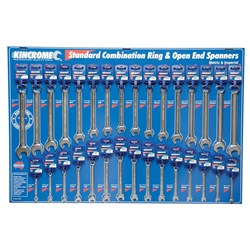 Standard Combination Spanners Merchandiser 31 Piece