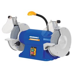 "Bench Grinder 200mm (8"") with Flexible LED Light"