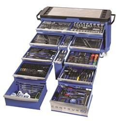 "CONTOUR® 60 Tool Trolley 500 Piece 1/4, 3/8, 1/2 & 3/4"" Drive"
