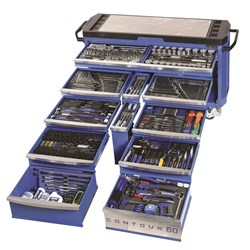 "Tools Only - CONTOUR® 60 Tool Trolley 500 Piece 1/4, 3/8 & 1/2"" Drive"