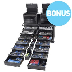 "CONTOUR® 60 Tool Trolley Kit 674 Piece 1/4, 3/8, 1/2 & 3/4"" Drive - Black Series"