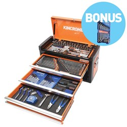 "EVOLVE® Tool Chest 163 Piece 1/4, 3/8 & 1/2"" Square Drive BONUS"