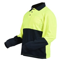 Long Sleeve Polo - Hi-Vis Extra Large