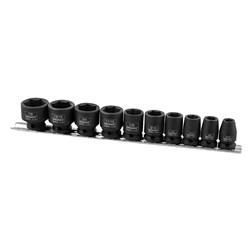 "Impact Socket Rail 10 Piece 3/8"" Drive - Imperial"