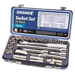"Socket Set 23 Piece 1/2"" Square Drive (Mirror Polish)"