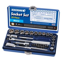 "Socket Set 29 Piece 3/8"" Square Drive (Mirror Polish)"