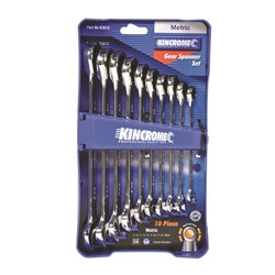 Combination Gear Spanner Set 10 Piece