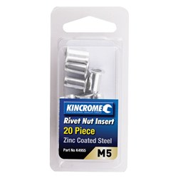 Rivet Nut Insert M5 (Zinc Coated Steel) - 20 Pack