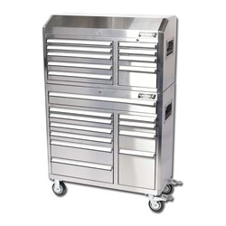 Stainless Steel 20 Drawer and Trolley Combo