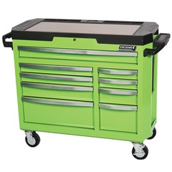 CONTOUR® Tool Trolley 9 Drawer Green