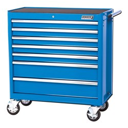 BLUESTEEL® Wide Tool Trolley 7 Drawer