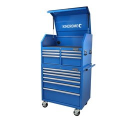 Chest and Trolly Combo 12 Drawer Blue Steel