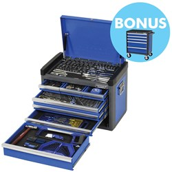 "EVOLVE® Tool Chest 214 Piece 1/4, 3/8 & 1/2"" Square Drive"