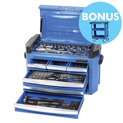 "CONTOUR® Slimline Tool Chest 186 Piece 1/4"", 3/8"" & 1/2"" Square Drive"