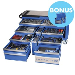 "CONTOUR® 60 Tool Trolley 372 Piece 1/4, 3/8 & 1/2"" Square Drive"