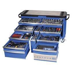 "Tools Only - CONTOUR® 60 Tool Trolley 372 Piece 1/4, 3/8 & 1/2"" Drive"
