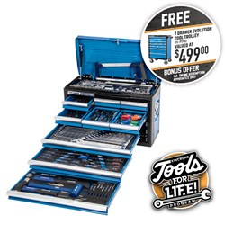 "EVOLUTION Tool Chest 174 Piece 9 Drawer 1/4, 3/8 & 1/2"" Drive"