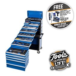 "EVOLUTION Tool Workshop 245 Piece 14 Drawer 1/4, 3/8 & 1/2"" Drive"