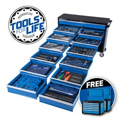 "EVOLUTION Tool Trolley 494 Piece 13 Drawer Extra-Wide 1/4, 3/8 & 1/2"" Drive"