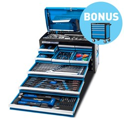 "EVOLUTION Tool Chest Kit 173 Piece 9 Drawer 1/4, 3/8 & 1/2"" Drive BONUS EVOLUTION 5 Drawer Tolley"