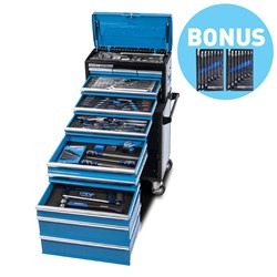 "EVOLUTION Tool Workshop 185 Piece 11 Drawer 1/4, 3/8 & 1/2"" Drive BONUS EVOLUTION Singleway Gear Spanners 8 Peice Metric & Imperial"