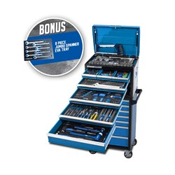 281 Piece 14 Drawer Evolution Tool Workshop with Bonus 2 Drawer Side Locker