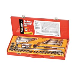"Socket & Spanner Set 35 Piece 1/2"" Drive - Metric & Imperial"
