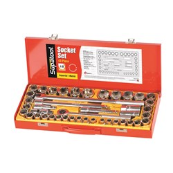 "Socket Set 43 Piece 1/2"" Drive - Metric & Imperial"