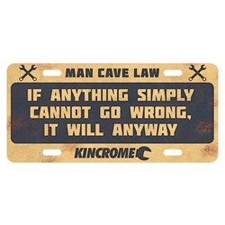 RETRO™ Sign Man Cave Law - Go Wrong