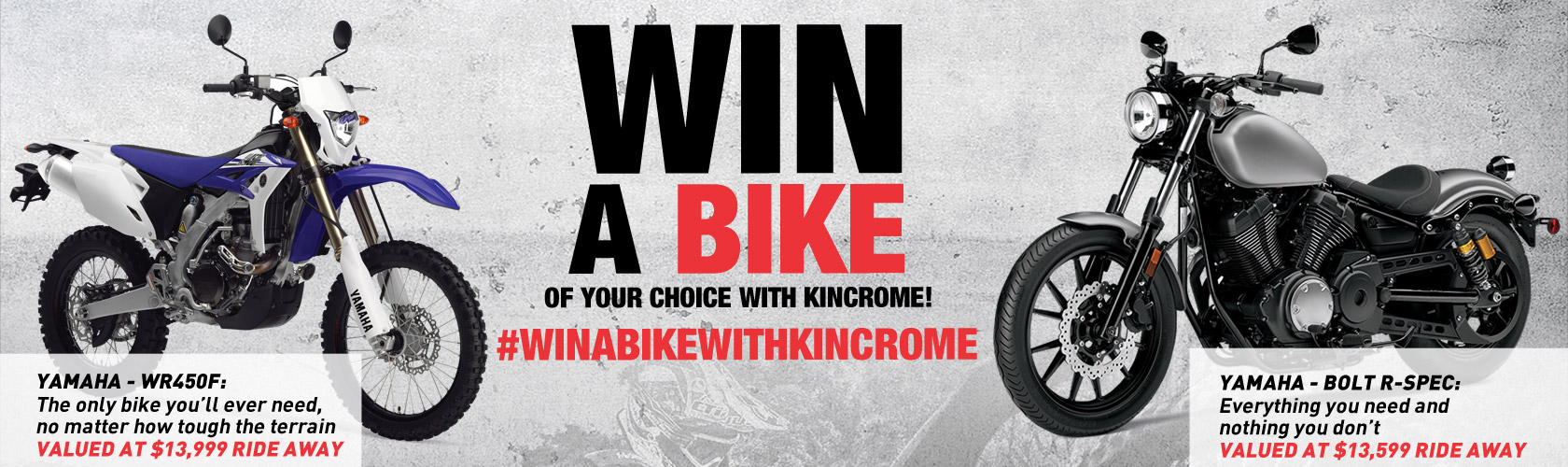 Win a Bike with Kincrome