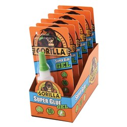 Gorilla® Super Glue Gel 15g 6 Piece