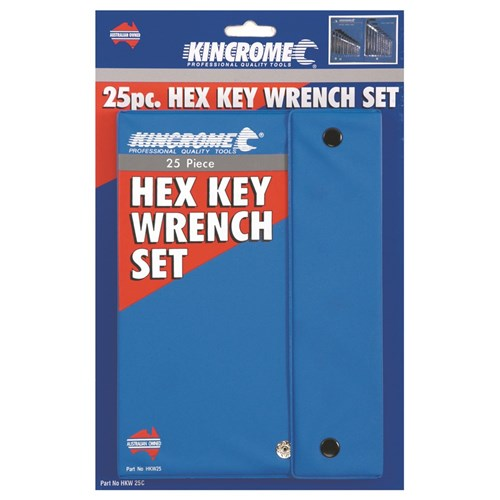 Hex Key Wrench Set 25 Piece Imperial & Metric
