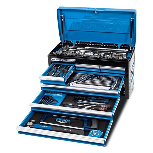 EVOLUTION Tool Chest Kit 133 Piece 6 Drawer 1/4, 3/8 & 1/2
