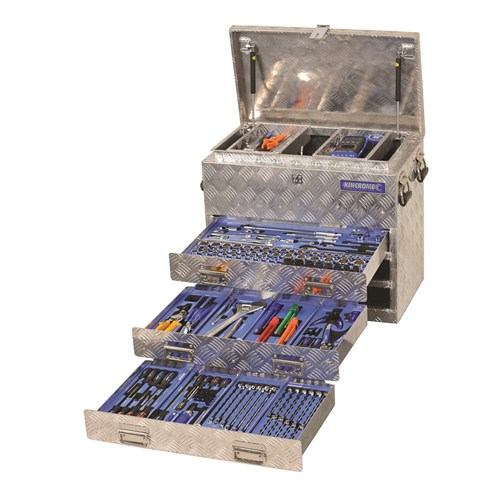 "Tools Only - Aluminium Truck Box Tool Kit 279 Piece 1/4, 3/8 & 1/2"" Drive"