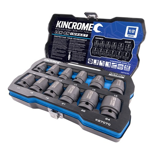 "LOK-ON™ Impact Socket Set 12 Piece 1/2"" Drive"