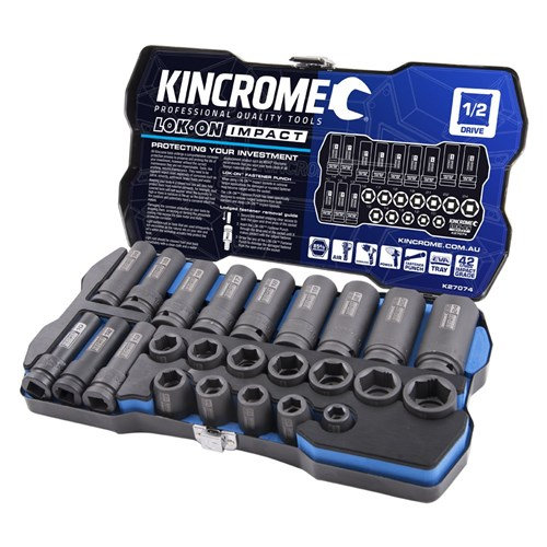 "LOK-ON™ Impact Socket Set 24 Piece 1/2"" Drive"
