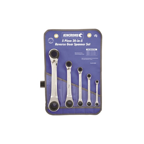 Double Ring 20-in-5 Gear Spanner Set 5 Piece